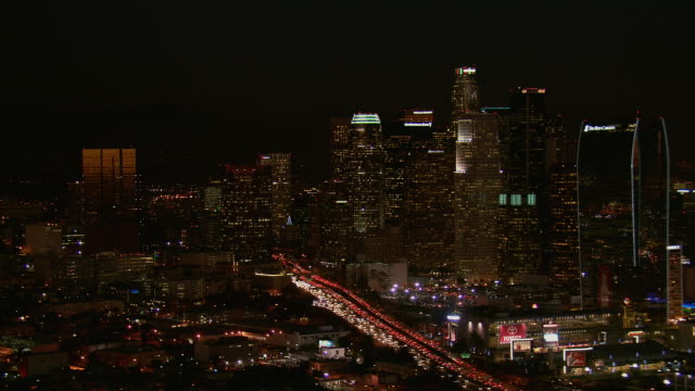 LA Live Area And Downtown LA At Night