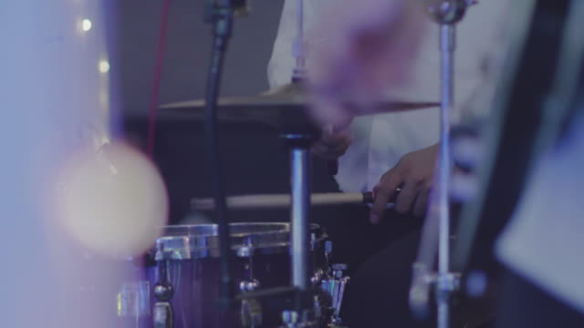 live concert drummer on stage - solo performance stock videos and b-roll footage