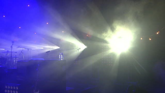 m/s ext live concert night lights festival - stage light stock videos and b-roll footage