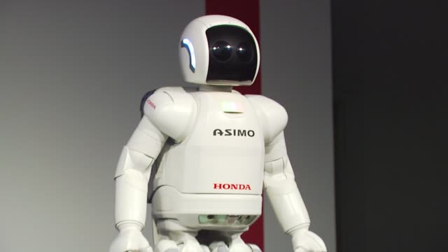 live demonstrations of asimo at the honda premieres 'living with robots' and live demonstrations of asimo at park city ut - honda stock videos & royalty-free footage