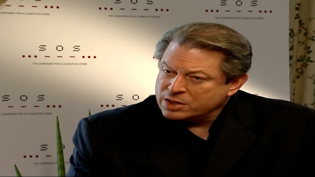 live earth concert lineup announced al gore interview sot live earth concerts will send out sos message to policy makers - sos stock videos and b-roll footage