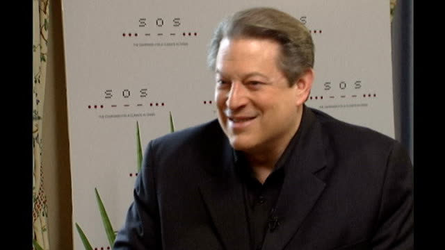 live earth concert lineup announced england london int al gore interview sot - al gore stock videos and b-roll footage
