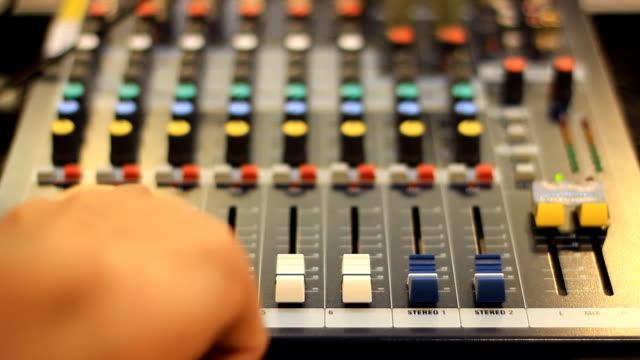 Mesa de mixagem ao vivo