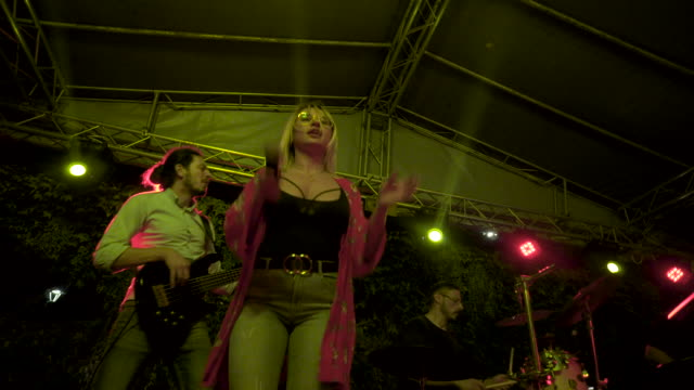 live rock band show in nis serbia stock video - musician stock videos & royalty-free footage