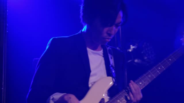 live rock band show in tokyo japan - guitarist stock videos & royalty-free footage