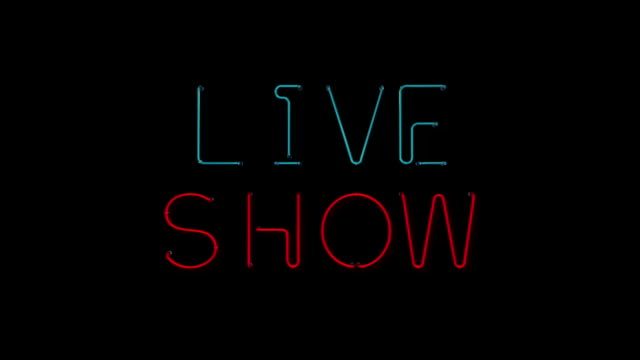 live show neon sign - x rated stock videos and b-roll footage