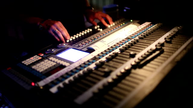 live sound mixing - audio equipment stock videos & royalty-free footage