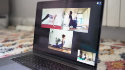 Live streaming online yoga class