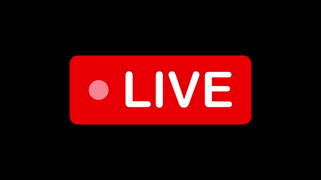 live streaming template. red sign of streaming, broadcasting, online video. 4k video - live broadcast stock videos & royalty-free footage