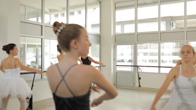lively ballet dancers - ballet studio stock videos & royalty-free footage