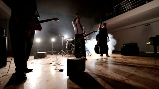 lively experiment jam session of young rock ensemble - punk music stock videos and b-roll footage