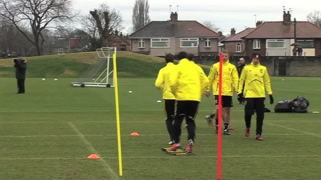 liverpool and uruguay striker training at liverpool's melwood training ground isntv premier league post match reviews week 2 luis suarez training... - uruguay stock videos & royalty-free footage