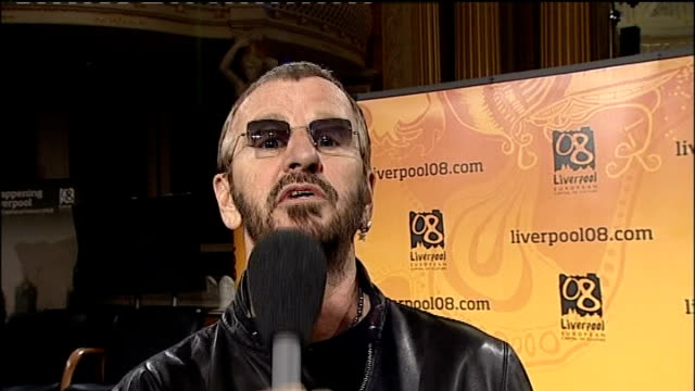 liverpool begins year as european capital of culture; int ringo starr interview sot - going to be a great show, people of liverpool give it your... - ringo starr stock videos & royalty-free footage