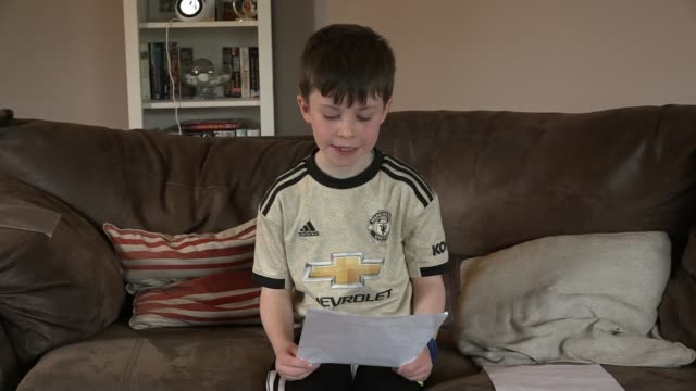 liverpool boss jurgen klopp writes personal response to 10yearold manchester united fan who asked him to lose ireland county donegal int daragh... - writing stock videos & royalty-free footage