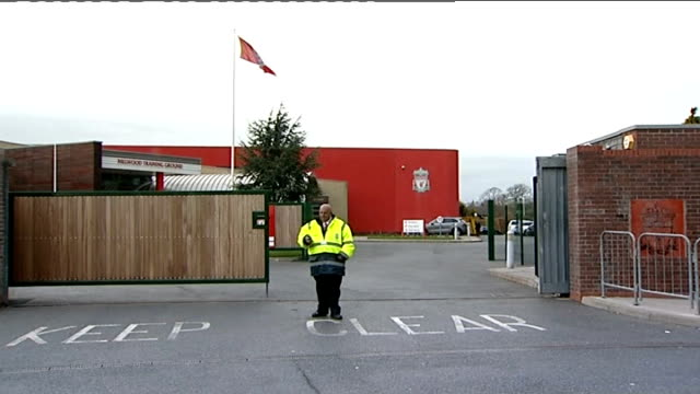 Exteriors of Melwood Training Ground / Luis Suarez training ENGLAND Merseyside Liverpool Melwood Training Ground EXT General views of entrance to...