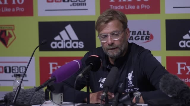Liverpool FC manager Jurgen Klopp's talks at the post match conference after his team drew 33 away to Watford He describes two of the goals as...