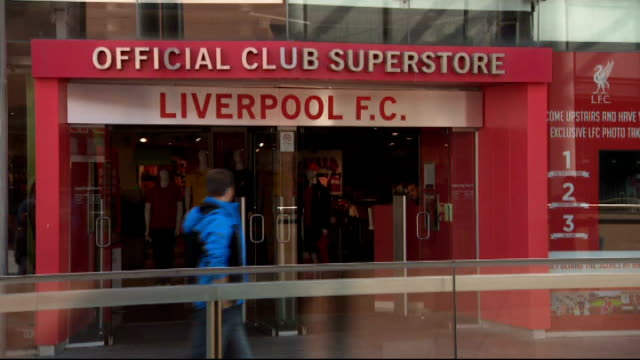 Liverpool FC Official Club Superstore GVs ENGLAND Merseyside Liverpool Liverpool One shopping Centre INT General views of 'Liverpooll FC Official...