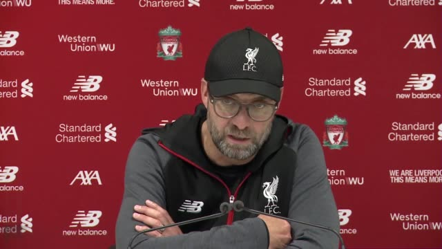 vídeos y material grabado en eventos de stock de liverpool manager jurgen klopp reflects on his side's 20 win over sheffield united which gives the reds one year without defeat in the premier league... - período deportivo