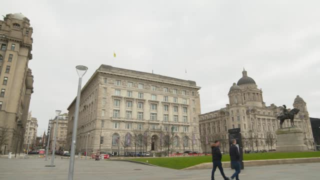 liverpool mayor arrested / council mismanagement allegations: joe anderson interview; england: liverpool: ext various views of the buildings and the... - politics stock-videos und b-roll-filmmaterial