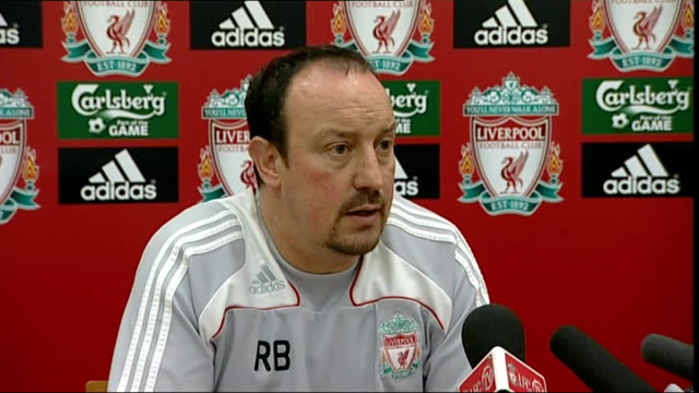Rafa Benitez press conference Benitez press conference SOT Does not think Liverpool are short of strikers as they have ebough quality in Fernando...