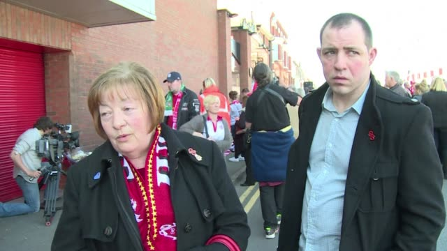 liverpool stars joined relatives of the 96 hillsborough stadium disaster victims on tuesday as the club marked the 25th anniversary of the tragedy... - hillsborough stadium stock videos & royalty-free footage