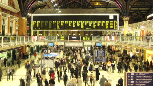 liverpool street station timelapse hd - large scale screen stock videos & royalty-free footage