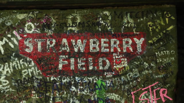 strawberry field. liverpool. uk - the beatles stock videos & royalty-free footage