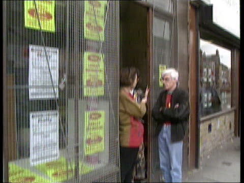 Walton byelection CF TAPE NO LONGER AVAILABLE ENGLAND Liverpool Walton LA Sign above shop Real Labour TILT CMS Posters for Lesley Mahmood in shop...
