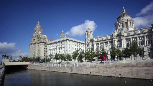 liverpool waterfront, england, uk - liverpool england stock videos & royalty-free footage