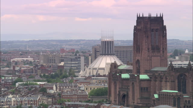 liverpool's cathedrals - liverpool england stock videos & royalty-free footage
