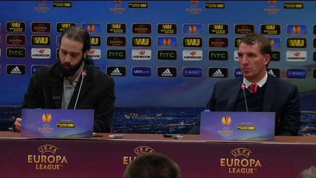 liverpool's manager brendan rodgers speaks during a press conference after the uefa europa league round of 32 soccer match between besiktas and... - besiktas stock videos and b-roll footage
