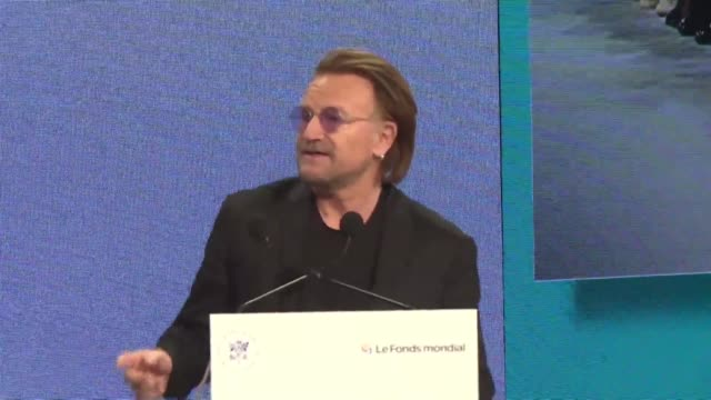 14600 lives will be saved tomorrow and the day after and the day after that for the next 3 years says bono at a meeting in lyon of the global fund to... - tuberculosis stock videos & royalty-free footage