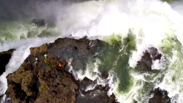 living life on the edge - victoria falls stock videos and b-roll footage