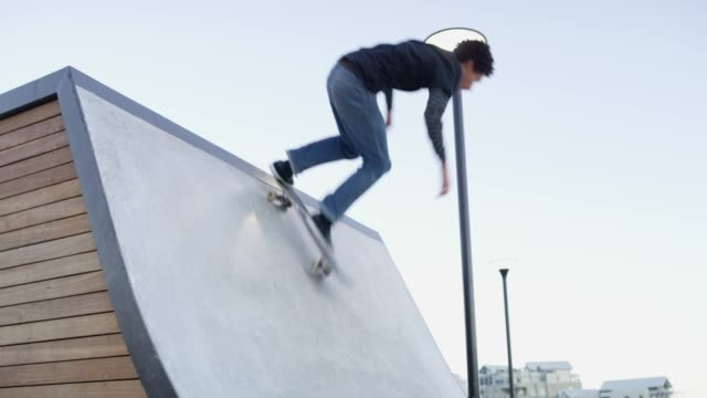 living life on wheels - sports ramp stock videos and b-roll footage