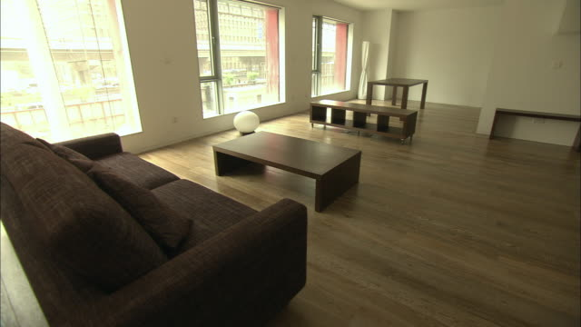 WS TU TD Living room of model home, Beijing, China