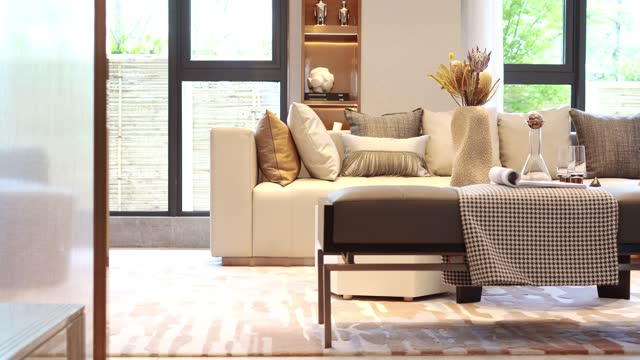 living room - home showcase interior stock videos & royalty-free footage