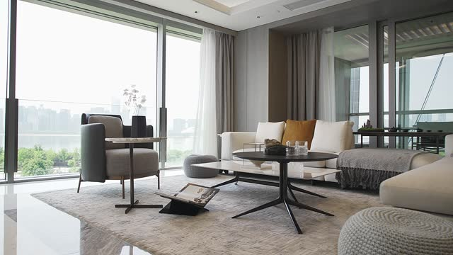 living room with sofa - home showcase interior stock videos & royalty-free footage