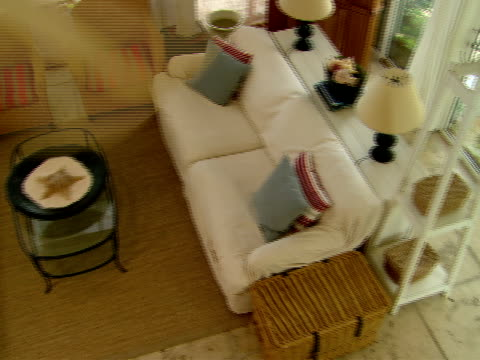 ha,  ms,  living room with spinning ceiling fan,  harbour island,  bahamas - welcome mat stock videos & royalty-free footage