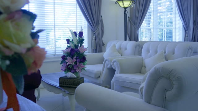 living room , zoom out - home showcase interior stock videos & royalty-free footage
