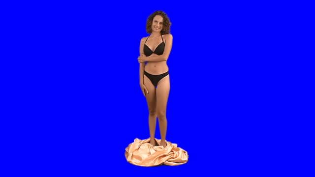 リビングの像 - 中年の女性一人点の映像素材/bロール
