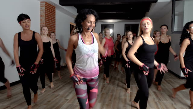 living the healthy life and training hard - aerobics stock videos & royalty-free footage