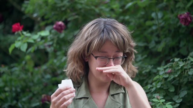 living with allergies - hay fever stock videos & royalty-free footage