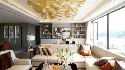 livingroom interior - apartment stock videos & royalty-free footage