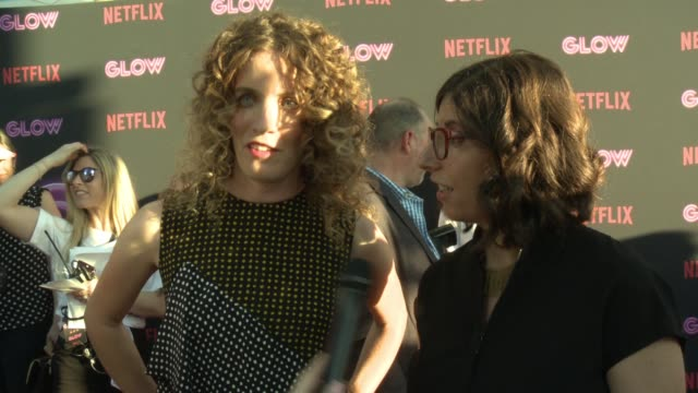 interview liz flahive and carly mensch on creating the show why female empowerment is resonating with people on tv when they first pitched it they... - cinerama dome hollywood stock videos & royalty-free footage