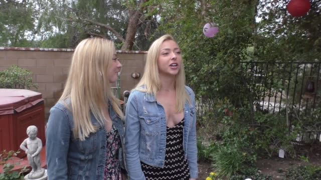 liz nolan and julia nolan on being twins at the rachel reilly and brendon villegas baby shower in west hills at celebrity sightings in los angeles on... - baby shower video stock e b–roll
