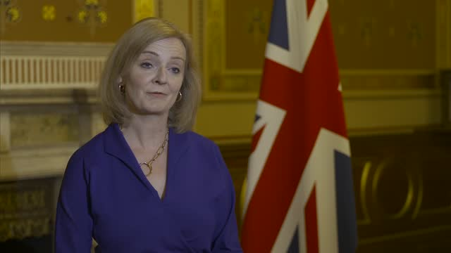 liz truss interview on appointment as foreign secretary; england: london: westminster: int liz truss mp interview sot q: you've been appointed... - cheerful stock videos & royalty-free footage