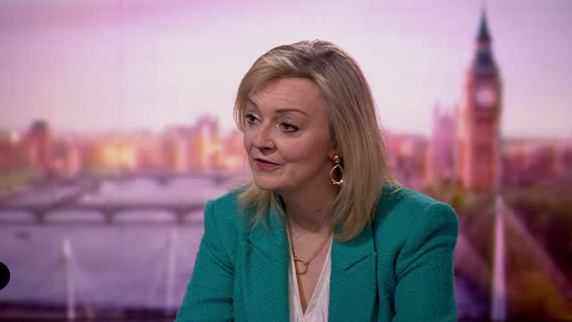 liz truss saying the government's focus is on the coronavirus pandemic - conservative party uk stock videos & royalty-free footage