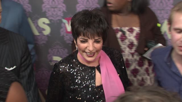 liza minelli at the 2009 vh1 divas red carpet at new york ny - vh1 divas stock videos and b-roll footage