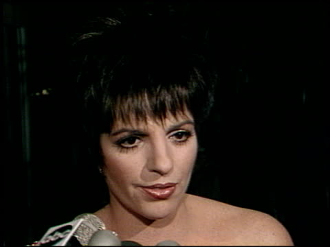 liza minnelli at the afi awards honoring gregory peck at the beverly hilton in beverly hills california on march 9 1989 - gregory peck stock videos and b-roll footage