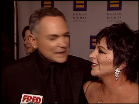 stockvideo's en b-roll-footage met liza minnelli at the human rights campaign honors barbra streisand at the century plaza hotel in century city, california on march 6, 2004. - barbra streisand